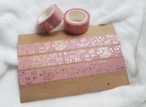 CRX | Love Letter Foil Washi Tape by Marie Lum