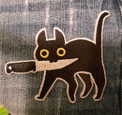 Knifecat Patch by MarlaDraw