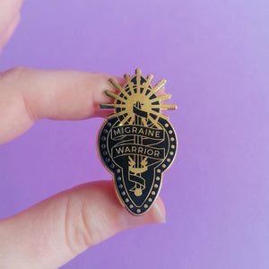 Migraine Warrior Enamel Pin by Abi Stevens