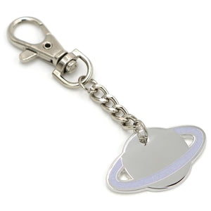glitter planet keychain charm with lobster clasp