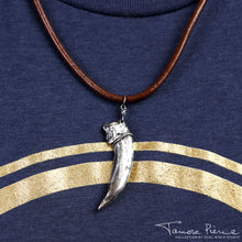 Load image into Gallery viewer, Tamora Pierce: Silver Badger Claw Necklace (Pre-Order)