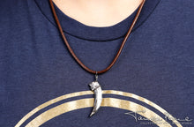Load image into Gallery viewer, Tamora Pierce: Silver Badger Claw Necklace
