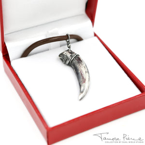 Tamora Pierce: Silver Badger Claw Necklace (Pre-Order)