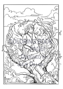 TAMORA PIERCE - Daine & The Wolfpack, Coloring Book Page DOWNLOAD