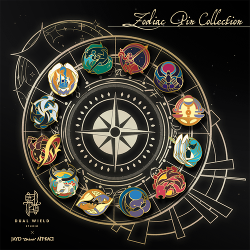 Dual Wield Studio x Jayd Aït-Kaci: Zodiac Pin Collection