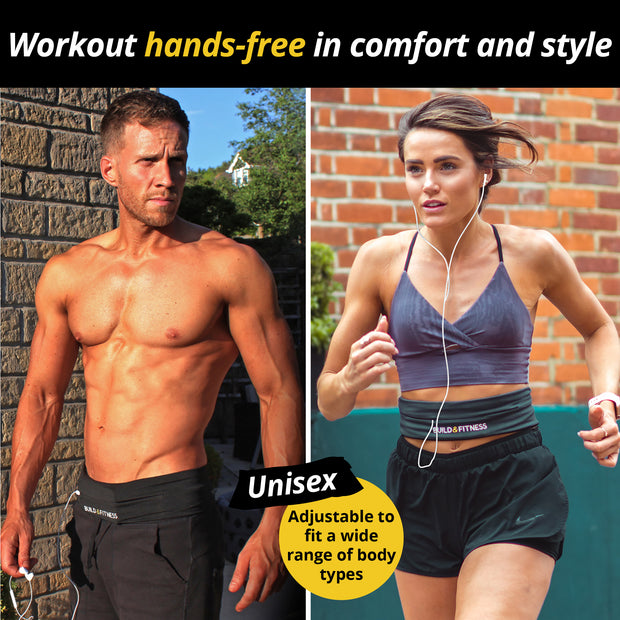 Graphite Adjustable Running Belt - Build & Fitness UK