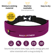 Ruby Red Adjustable Running Belt - Build & Fitness UK