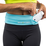 Aqua Blue Adjustable Running Belt - Build & Fitness UK