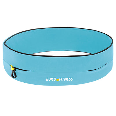 Aqua Blue Classic Running Belt - Build & Fitness - UK