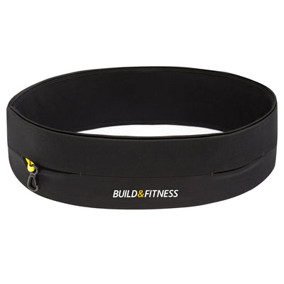 Black Classic Running Belt - Build & Fitness - UK