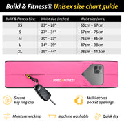 Hot Pink Classic Running Belt - Build & Fitness - UK