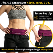 Ruby Red Classic Running Belt - Build & Fitness - UK