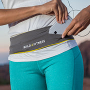 Grey Classic Running Belt - Build & Fitness UK