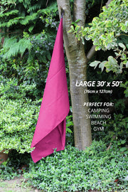Pink Microfibre Towel - Build & Fitness - UK & Europe