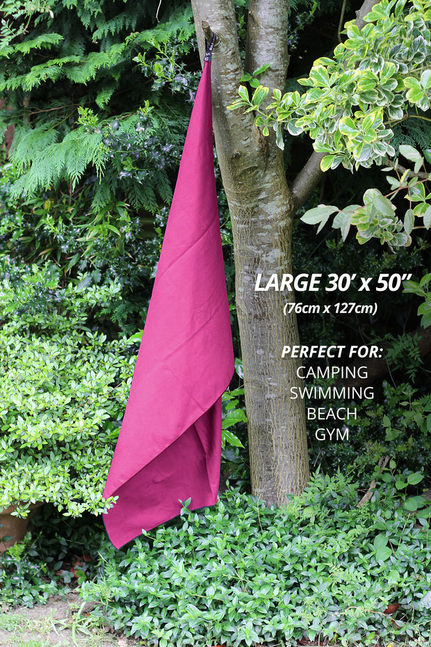 Pink Microfibre Towel - Build & Fitness UK