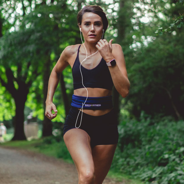 Midnight Blue Classic Running Belt - Build & Fitness UK
