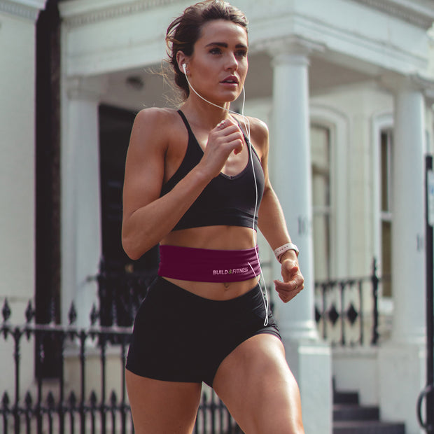 Ruby Red Classic Running Belt - Build & Fitness UK