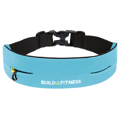 Aqua Blue Adjustable Running Belt - Build & Fitness - UK