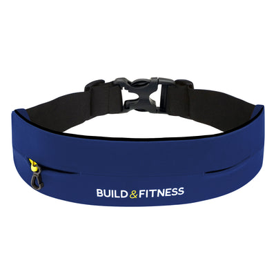 Midnight Blue Adjustable Running Belt - Build & Fitness - UK
