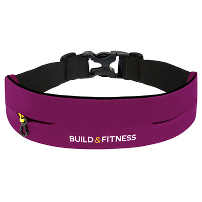 Ruby Red Adjustable Running Belt - Build & Fitness - UK