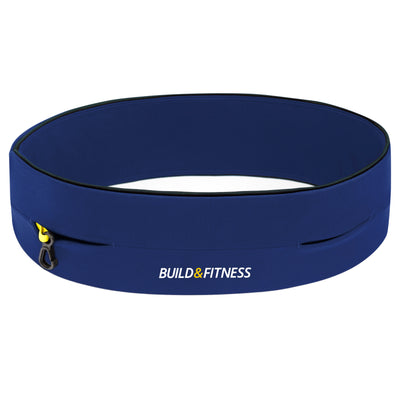 Midnight Blue Classic Running Belt - Build & Fitness - UK