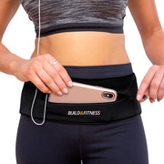 Black Adjustable Zipper Running Belt - Build & Fitness - UK