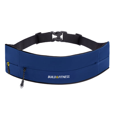 Midnight Blue Adjustable Zipper Running Belt - Build & Fitness - UK