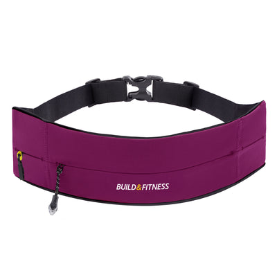 Ruby Red Adjustable Zipper Running Belt - Build & Fitness - UK