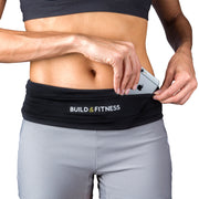 Black Adjustable Running Belt - Build & Fitness UK