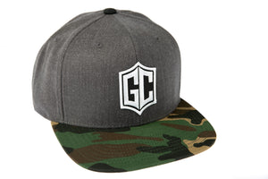 GC BADGE SNAPBACK - CHARCOAL/CAMO