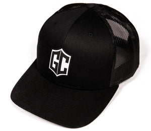 GC BADGE TRUCKER HAT (CURVED BILL) - BLACK