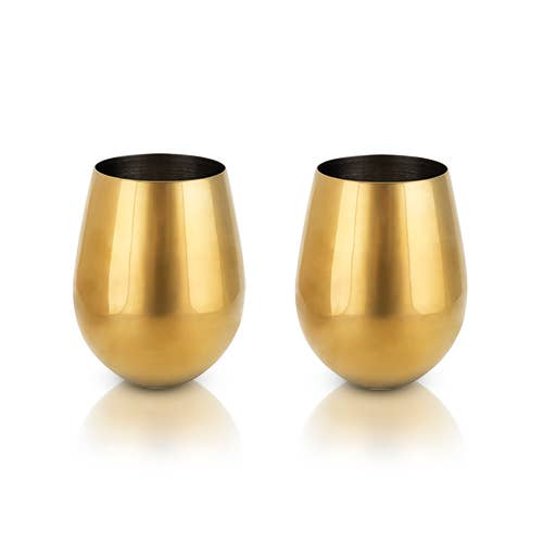 Gold Stemless Wine Glasses
