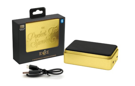 Pocket Tin Speaker - Gold / Bluetooth