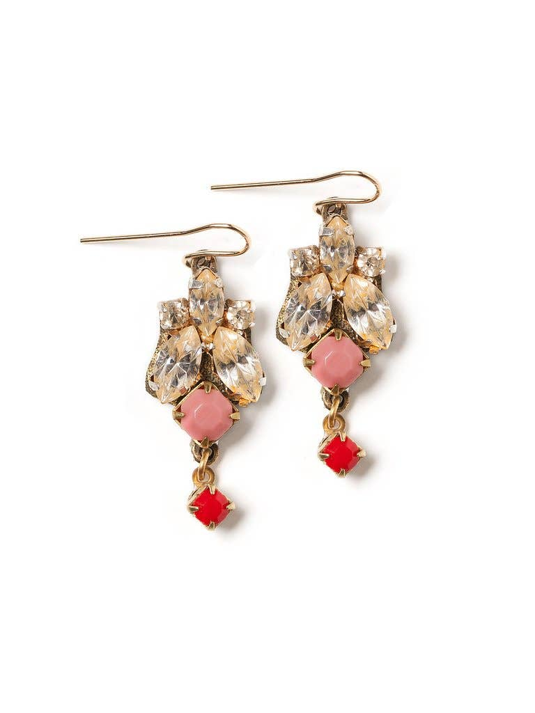 Coral Sparkle Earrings
