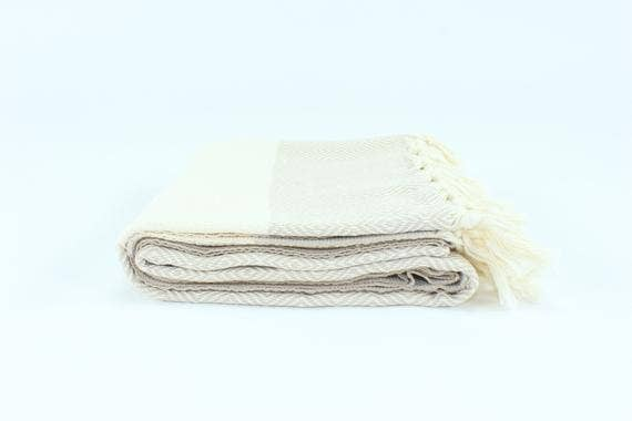 Premium Turkish Blocked Diamond Pattern Towel
