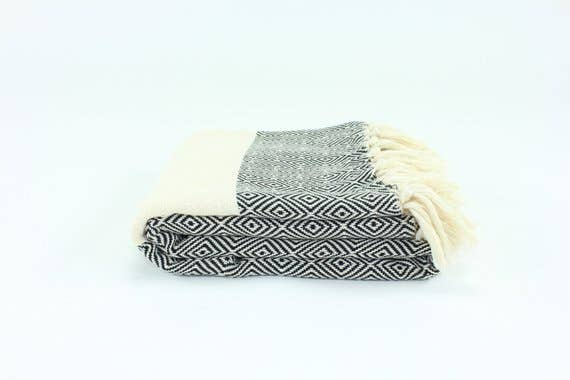 Premium Turkish Diamond Pattern Towel
