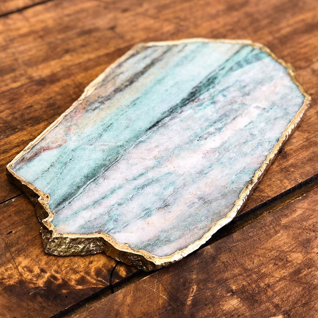 Emerald Agate Cheese Platter