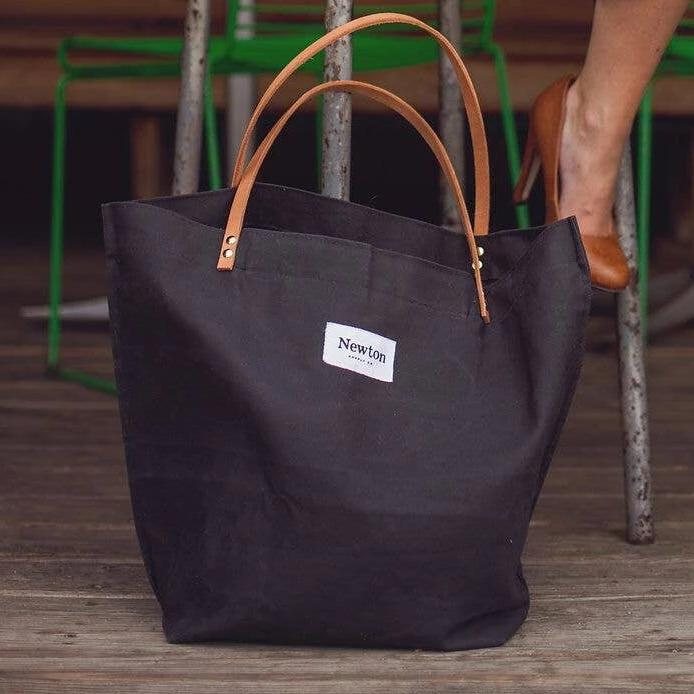 Coal Waxed Canvas Market Tote