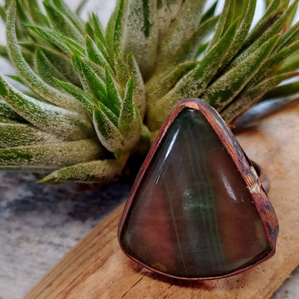 Rainbow Flourite Copper Ring