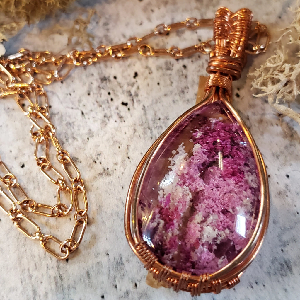 Pink Lodalite Necklace