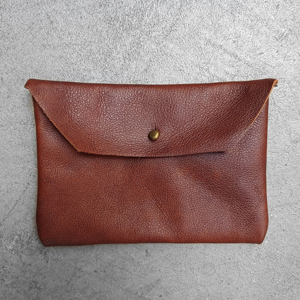 Soft Leather Clutch : Chestnut