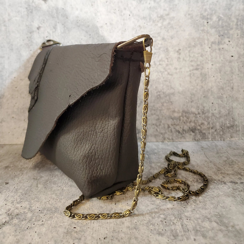 Mini Leather Crossbody with Chain