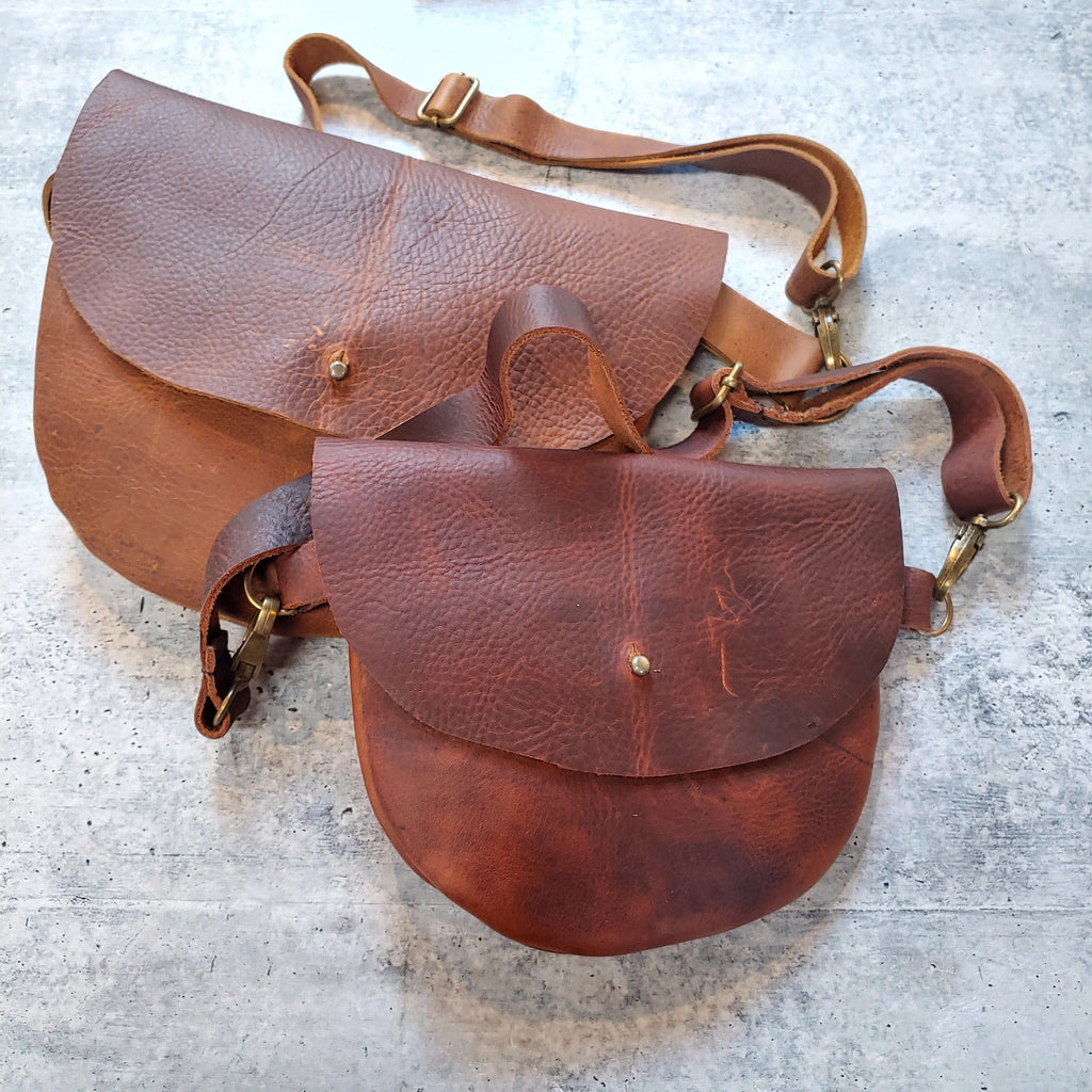 Small Rounded Hip Bag - Various Leathers