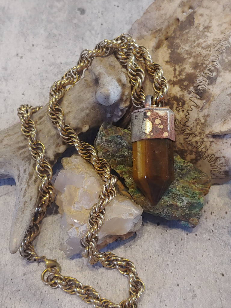 Tiger's Eye Tower Necklace
