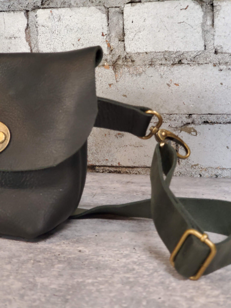 Leather Hip / Crossbody Bag - Mini