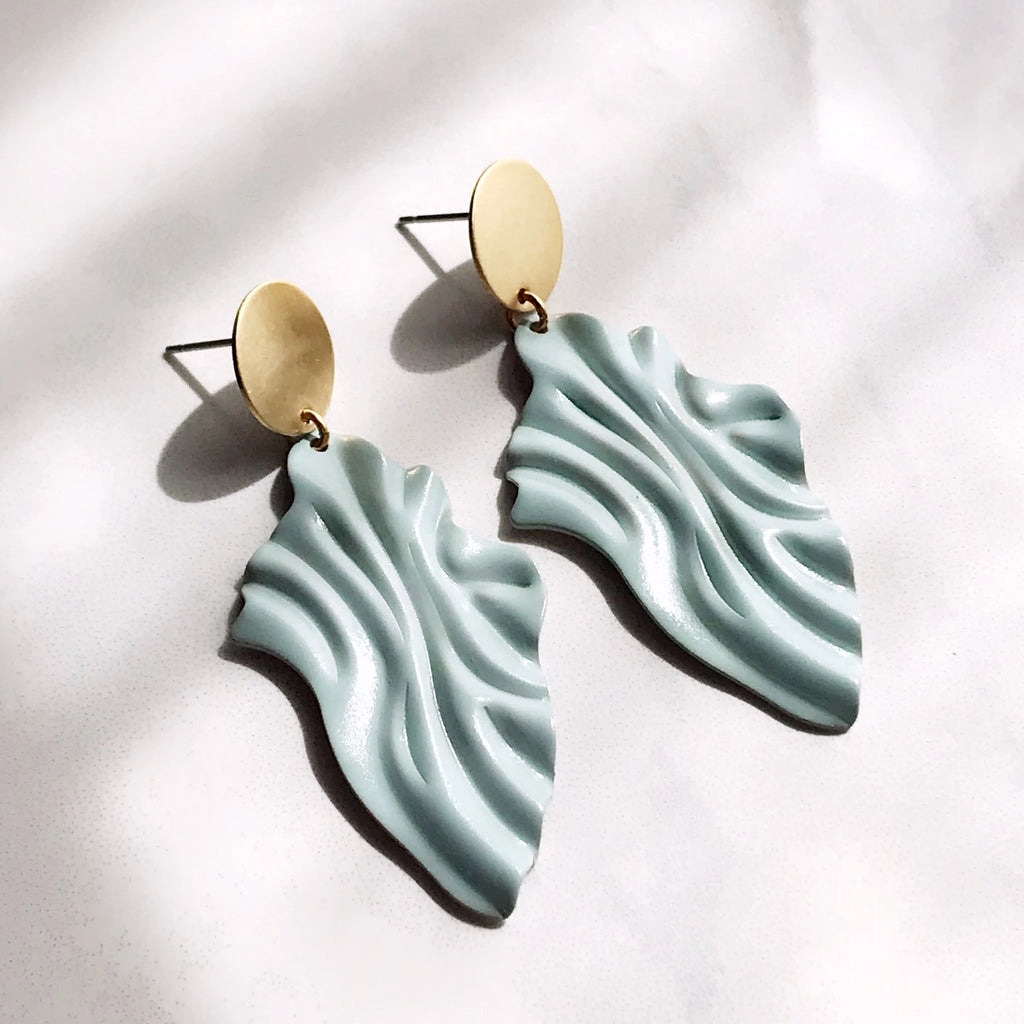 Wave Earrings - Sea