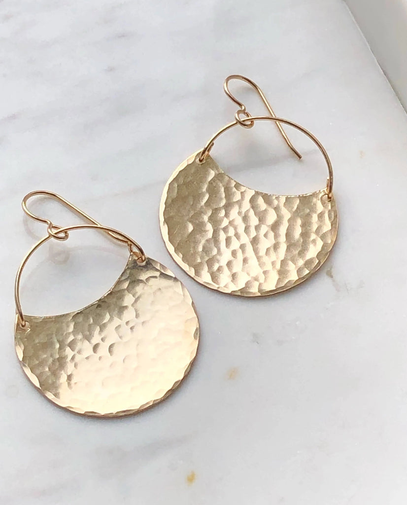 Theia Earrings // Hammered Finish