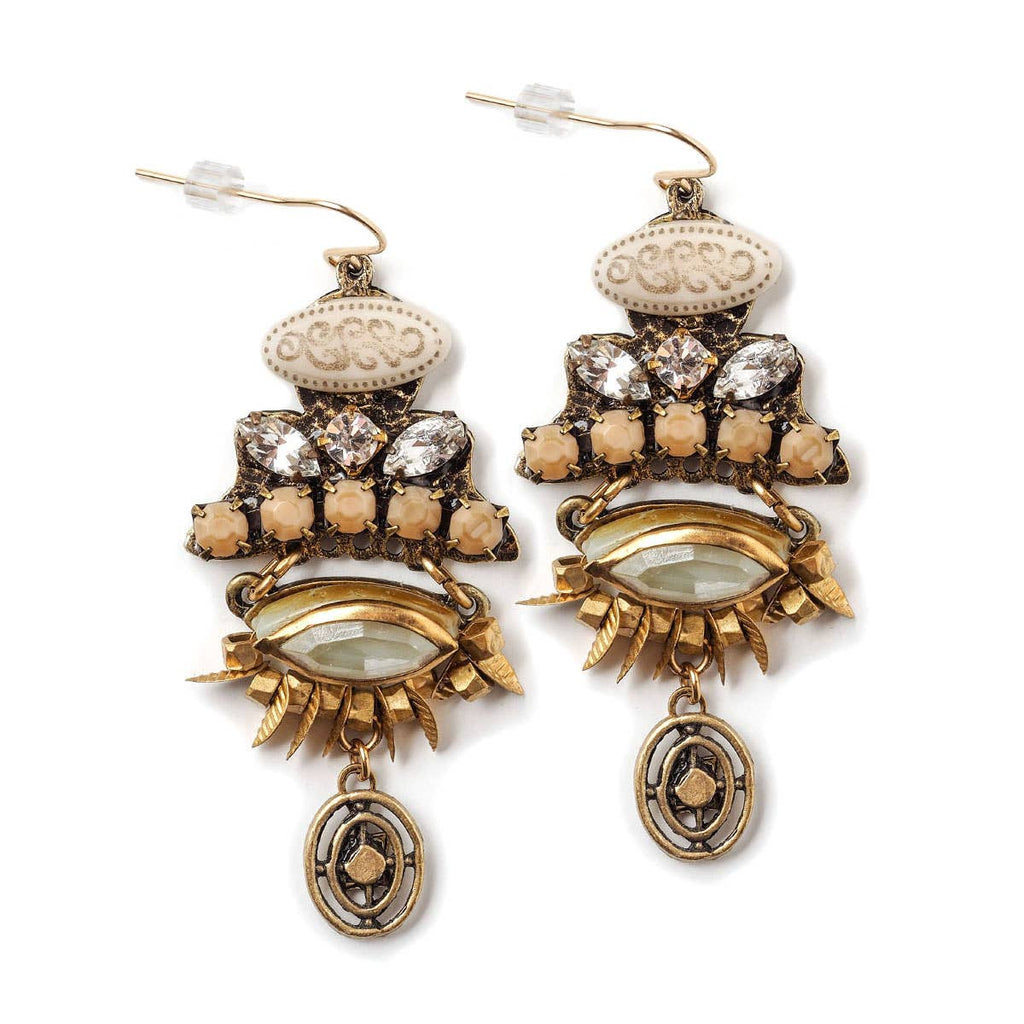 Adorned Eye Earrings