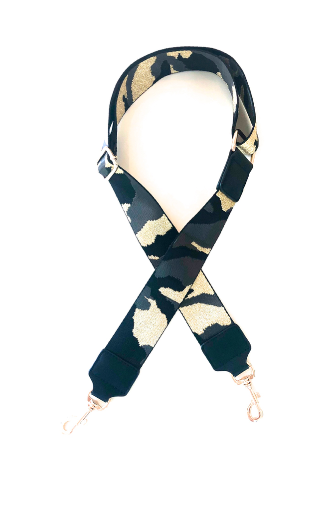 Accessory Concierge - Camo and Leather Adjustable Bag Straps