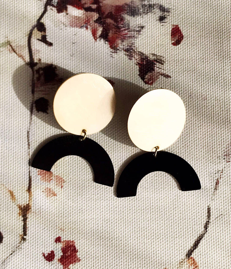 Moon Rising Earrings - Night